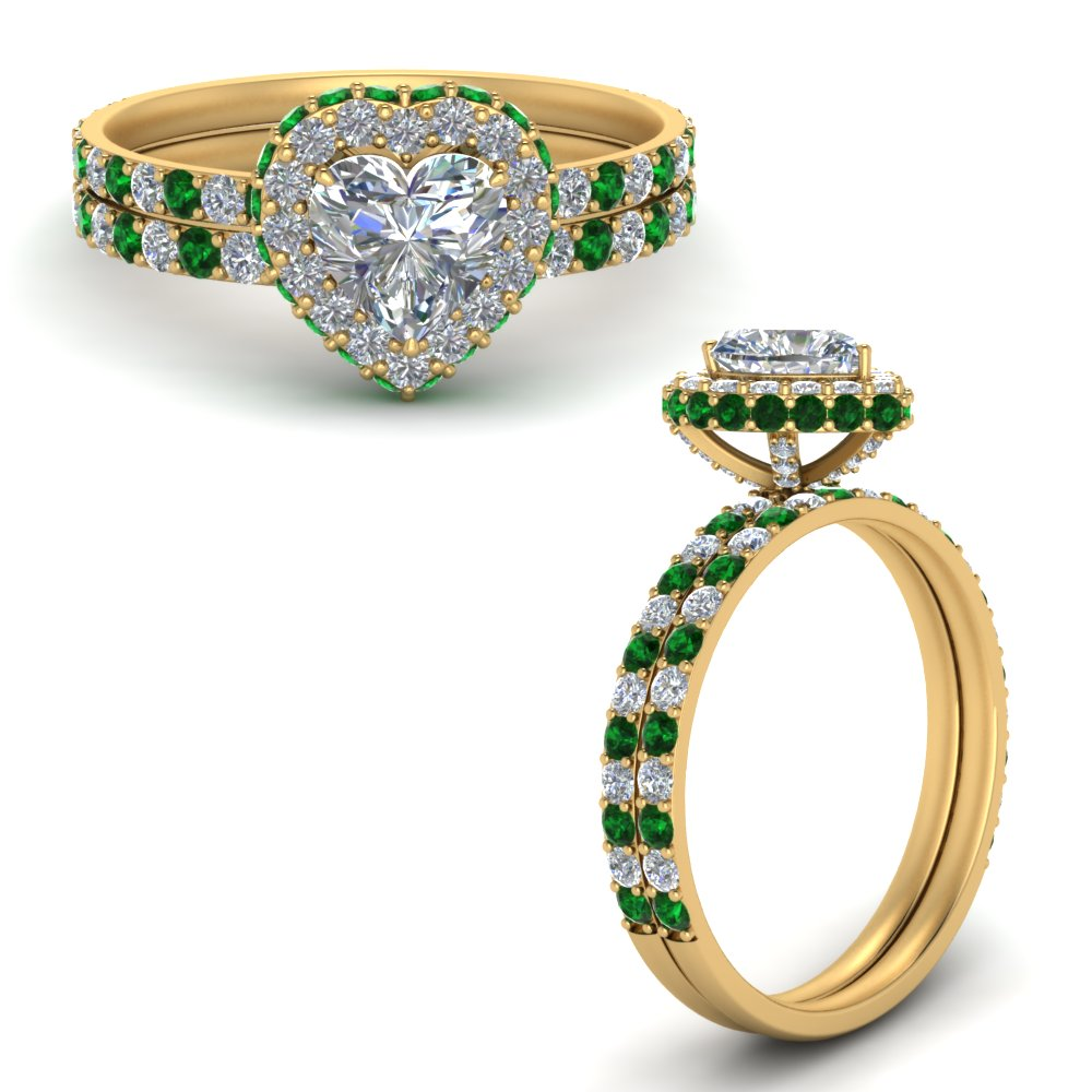 heart-diamond-rollover-wedding-ring-set-with-emerald-in-FD9376HTGEMGRANGLE3-NL-YG