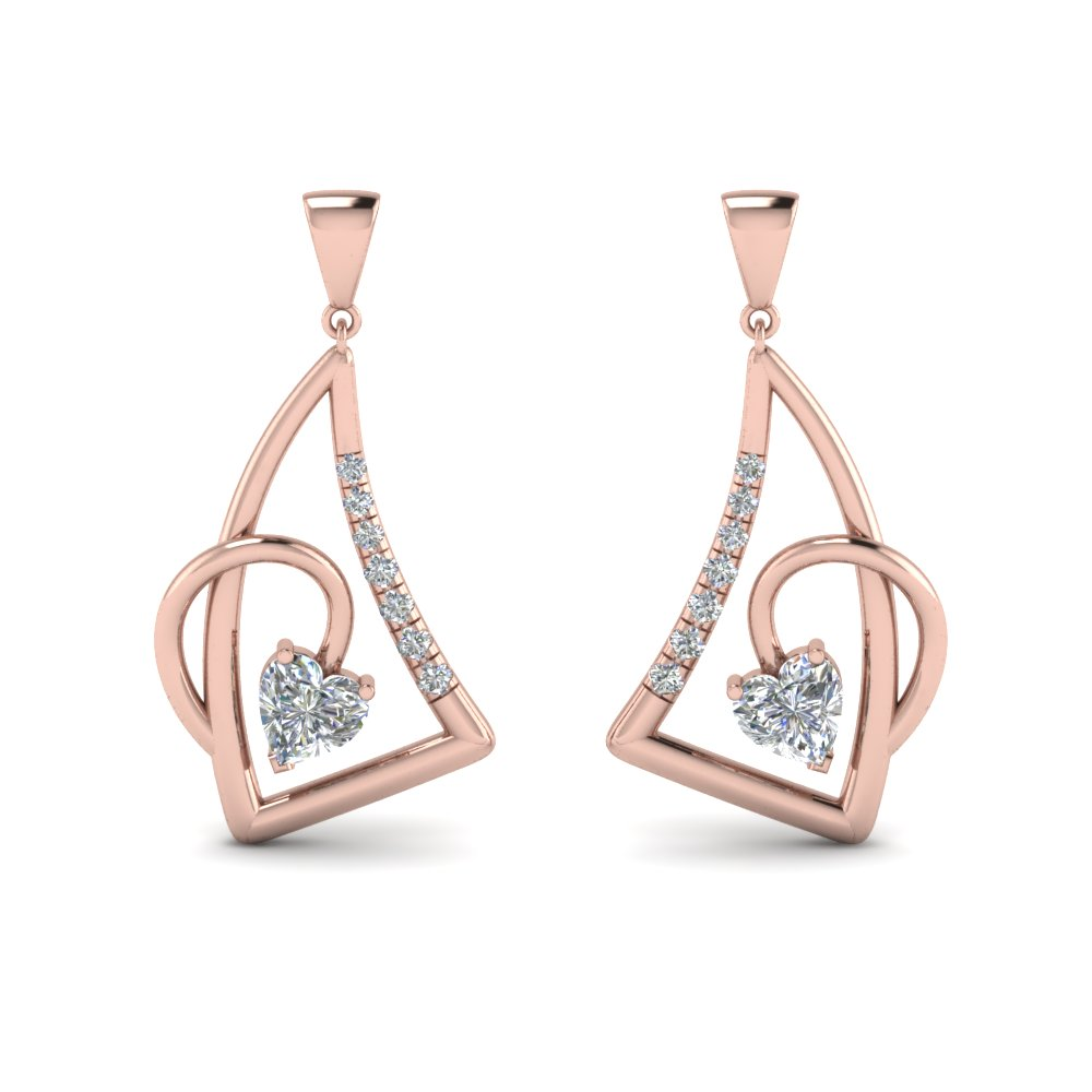Diamond Stud Drop Earring For Womens