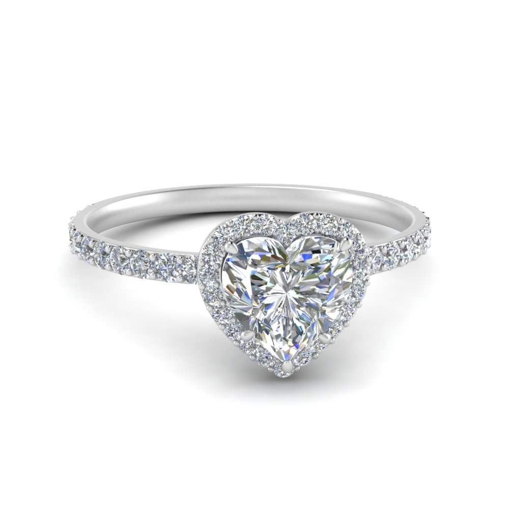 Diamond Stud Prong Halo Ring