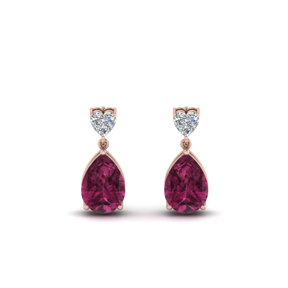 heart-diamond-stud-teardrop-pink-sapphire-earring-in-FDEAR8989GSADRPIANGLE1-NL-RG