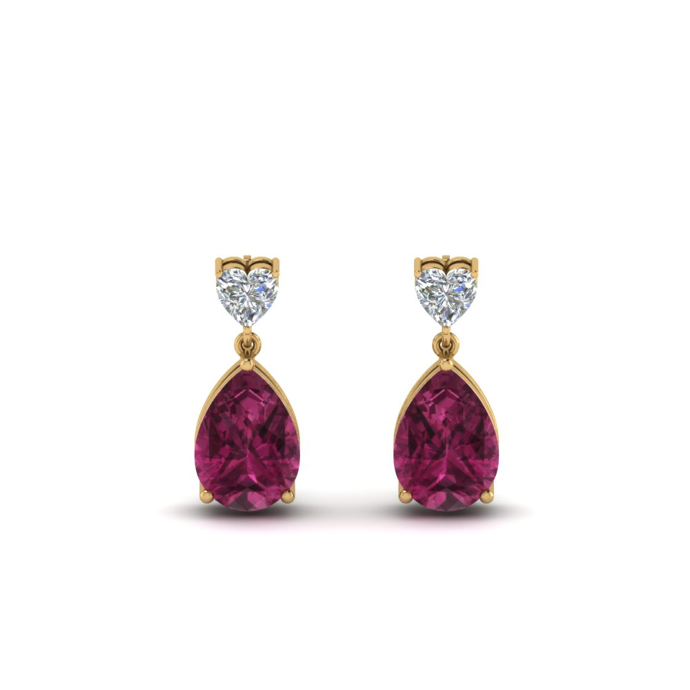 heart-diamond-stud-teardrop-pink-sapphire-earring-in-FDEAR8989GSADRPIANGLE1-NL-YG