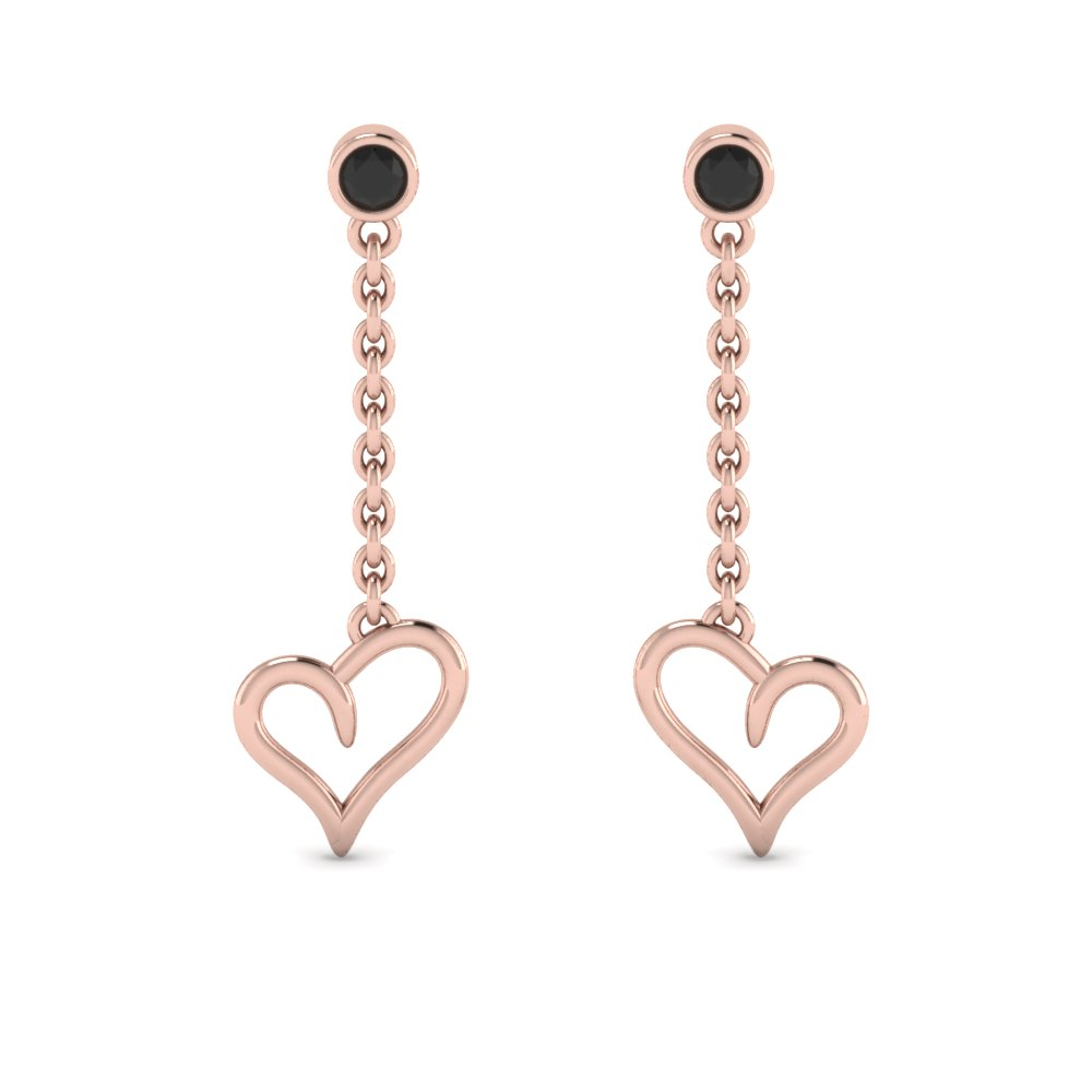 Heart Design Drop Earring