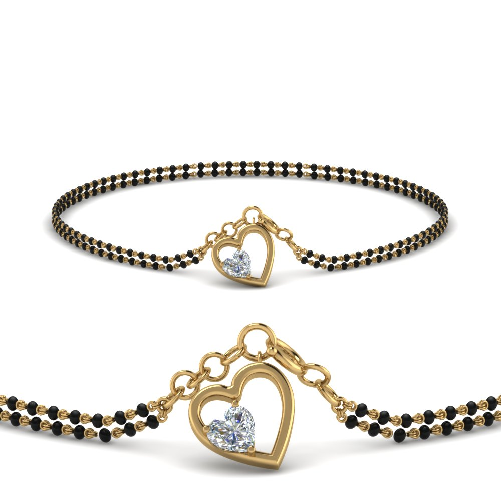 Heart Shaped Mangalsutra Bracelet