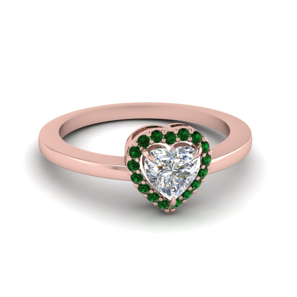 Halo Heart Promise Ring For Ladies