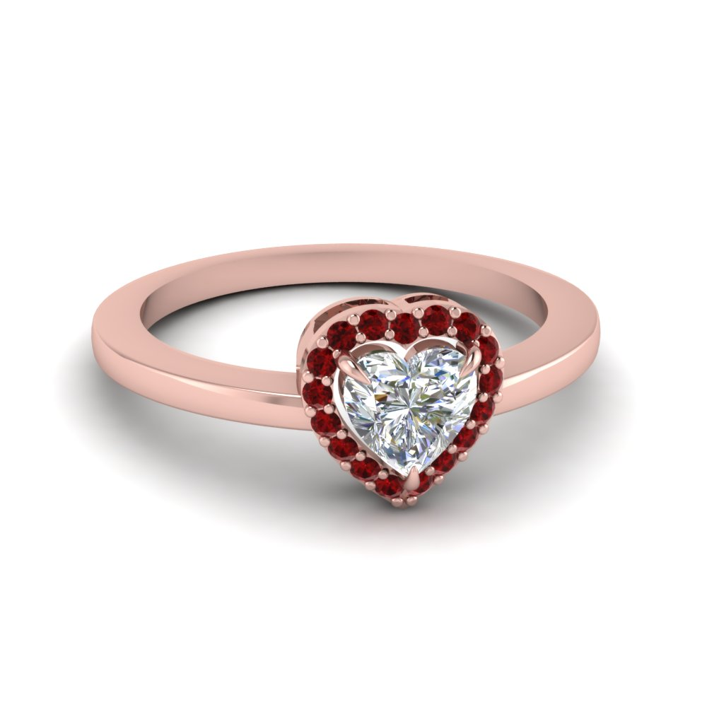 Ruby Halo Promise Ring
