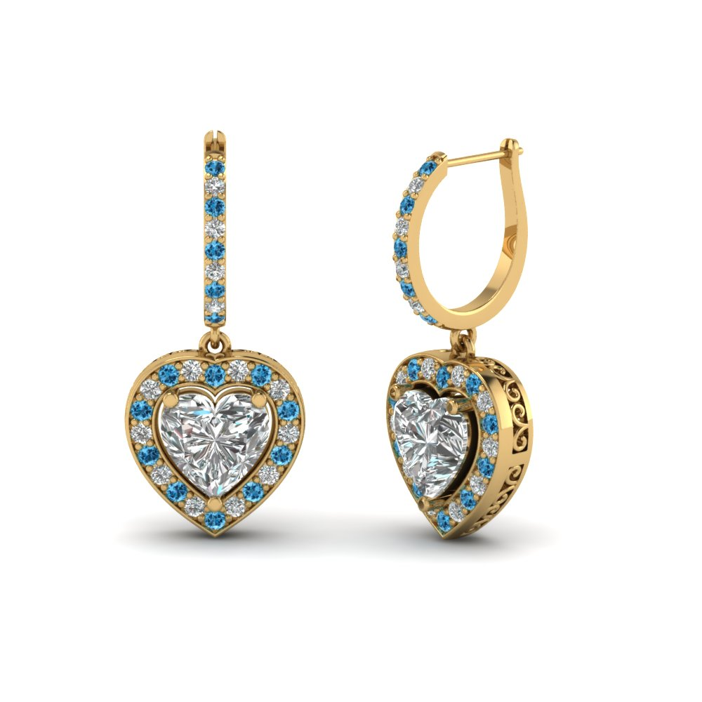Topaz Stone Earrings For Her