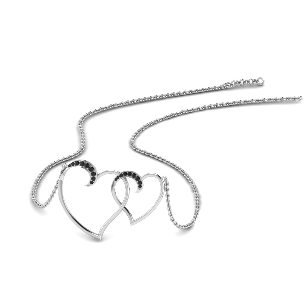 Sterling Silver Heart Interlocked Pendant