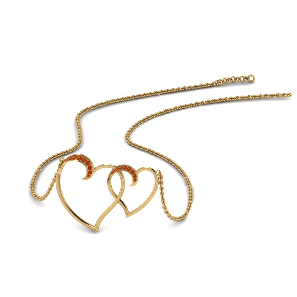 Beautiful Heart Interlocked Pendant