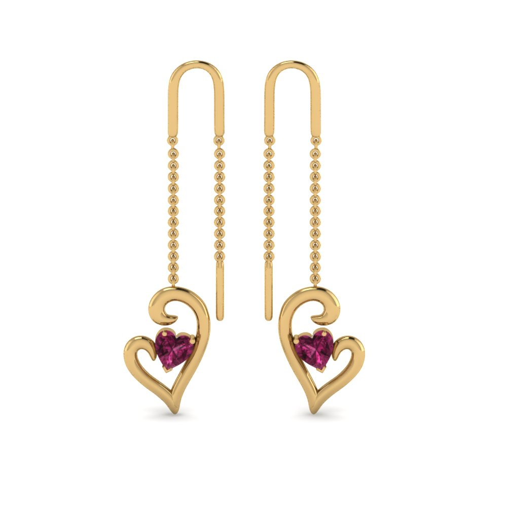 heart-pink-sapphire-drop-thread-earring-in-FDEAR8803GSADRPIANGLE1-NL-YG