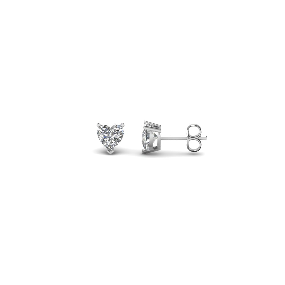 0.33 Carat Heart Stud Diamond Earring