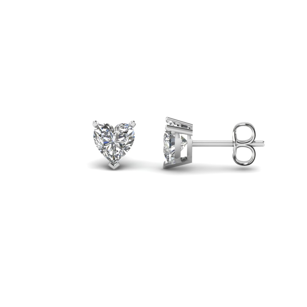 0.75 Ctw. Heart Stud Diamond Earring