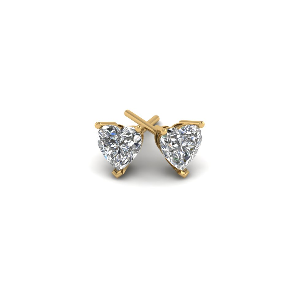 Heart Stud Diamond Earrings For Womens