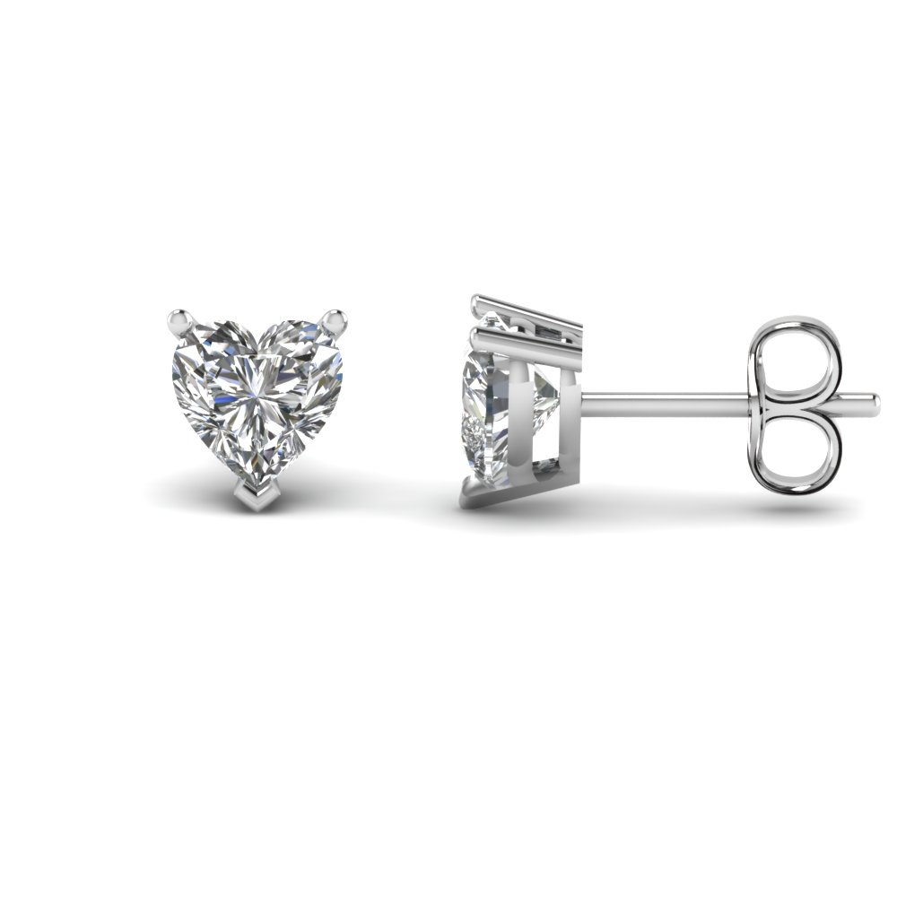 4 Ct. Heart Stud Diamond Earring