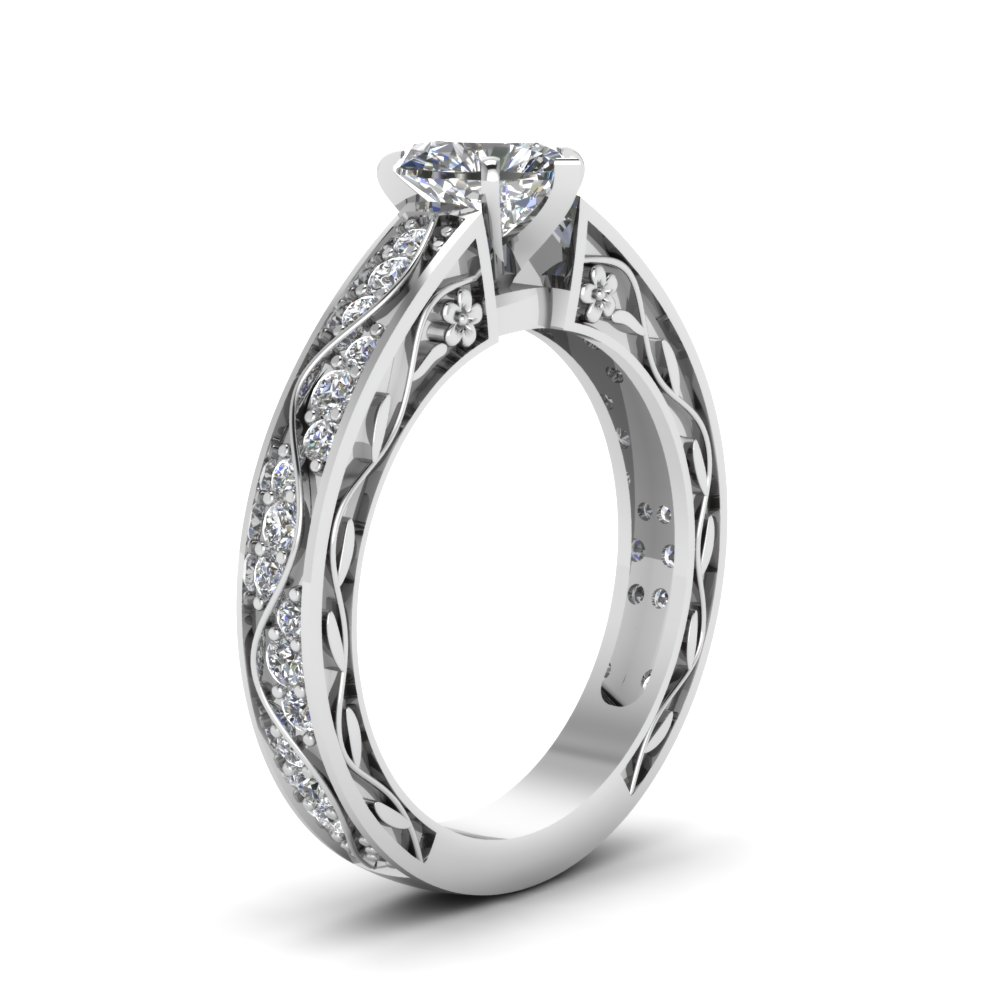 artcarved profile rings diamond engagement ring low wedding band