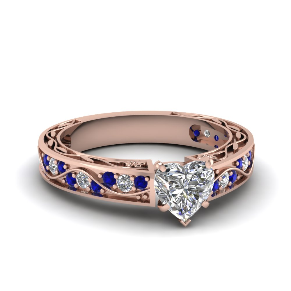 Heart Shaped Sapphire  Antique Ring
