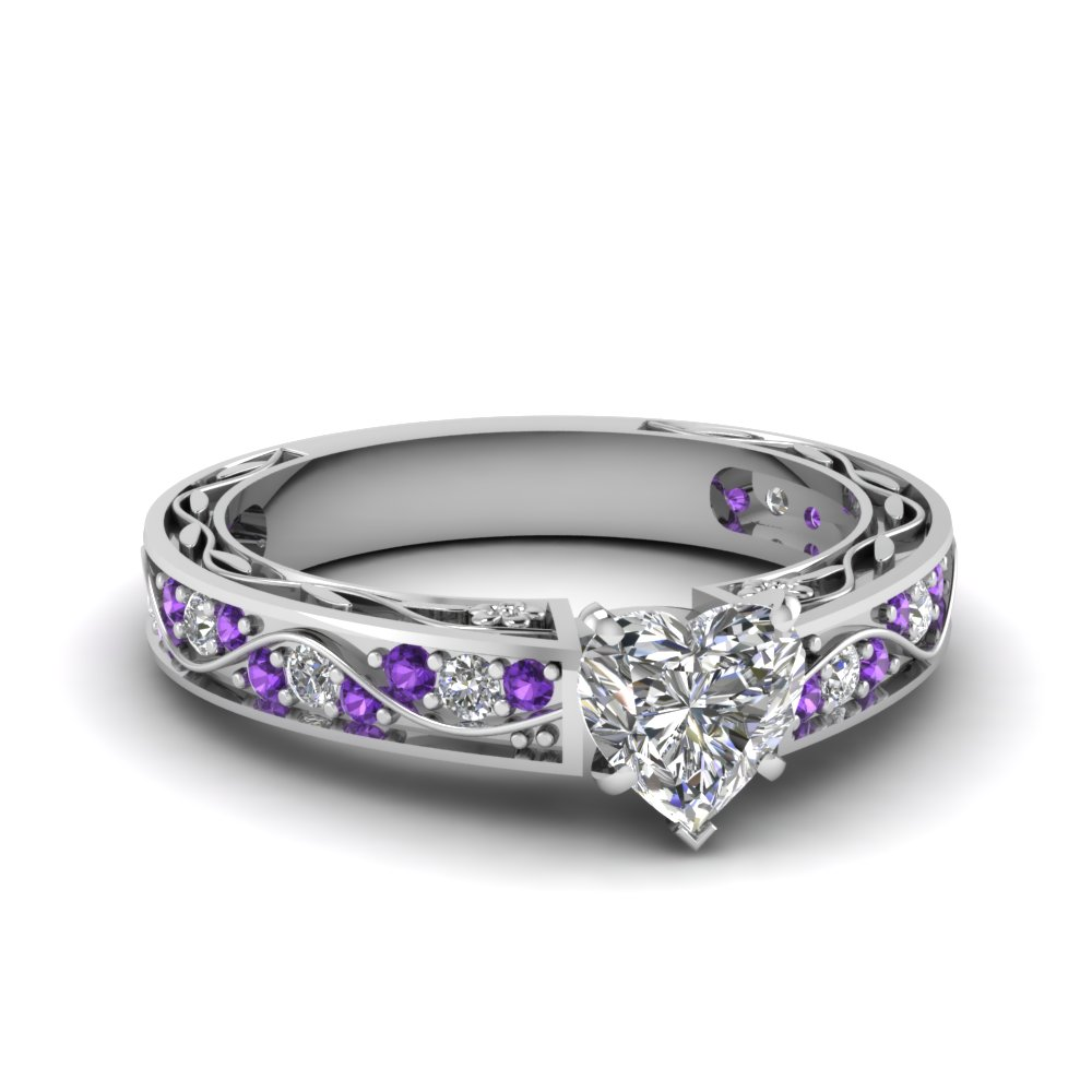 at ring in cushion fascinating white purple jewelry with nl rings wg topaz entrancing engagement price cut diamond artistic violac reasonable gold