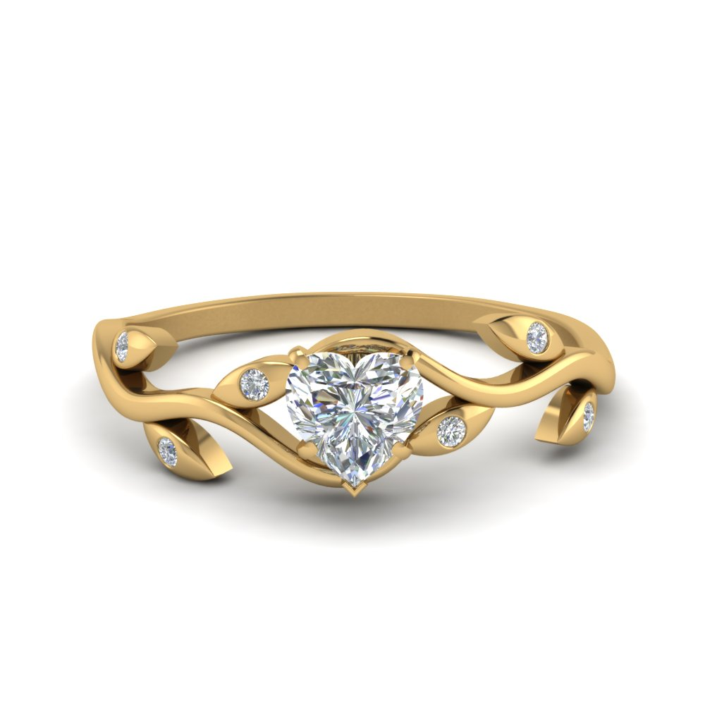 Heart Shaped Branch Wedding Ring