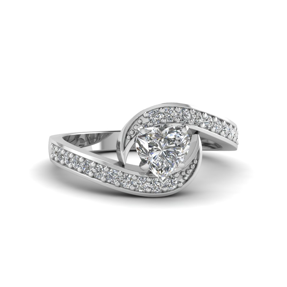 Petite Swirl Diamond Ring