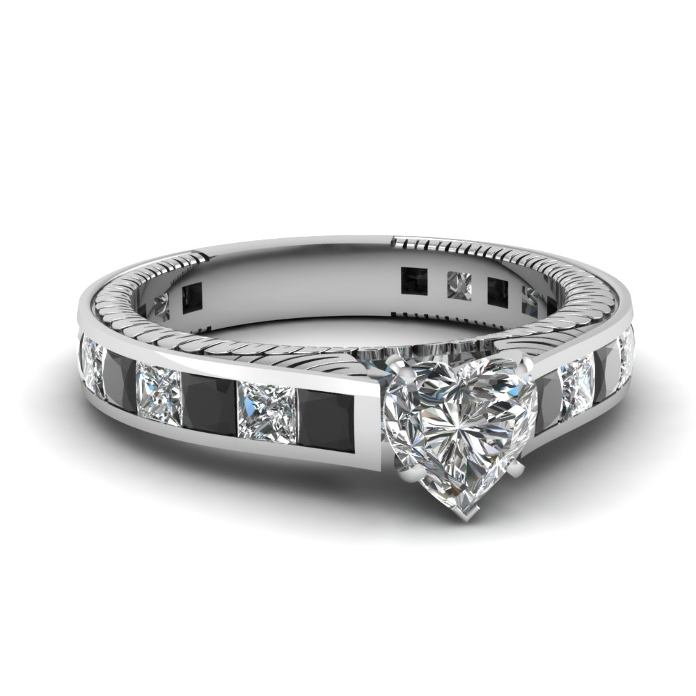 black diamond vintage engagement rings fascinating diamonds