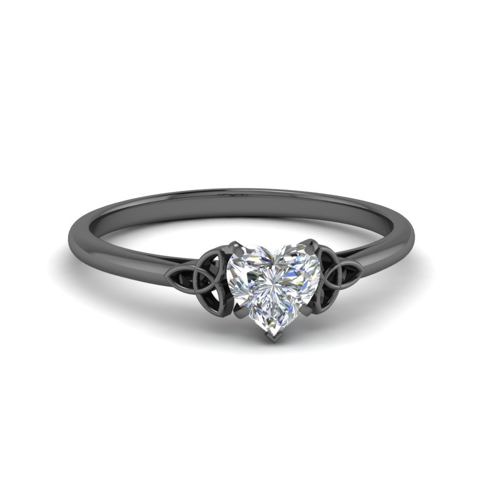 celtic heart shaped solitaire engagement ring in FD8541HTR NL BG