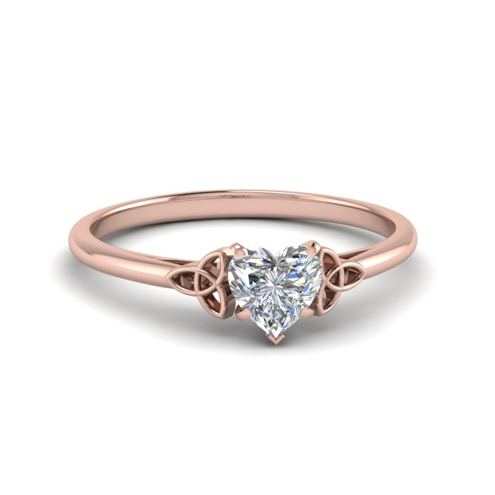 Celtic Heart Diamond Solitaire Ring