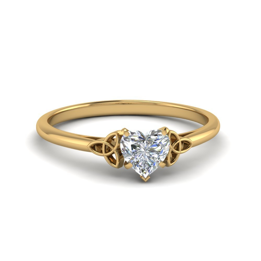 Heart Shape Celtic Solitaire Ring