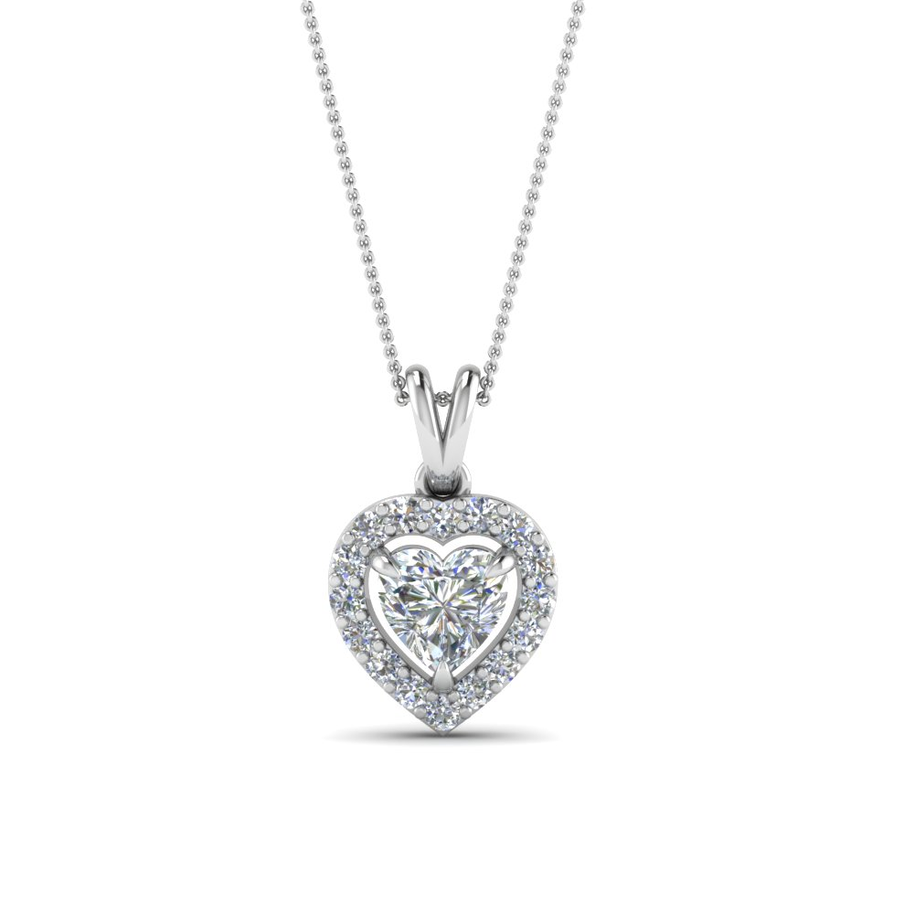 Halo heart diamond pendant in 14k white gold fascinating diamonds halo heart diamond pendant in fdpd1188ht nl wg aloadofball Gallery
