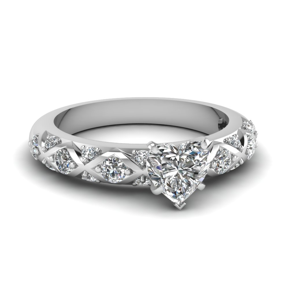 1/2 Ct. Heart Shaped Diamond Engagement Ring