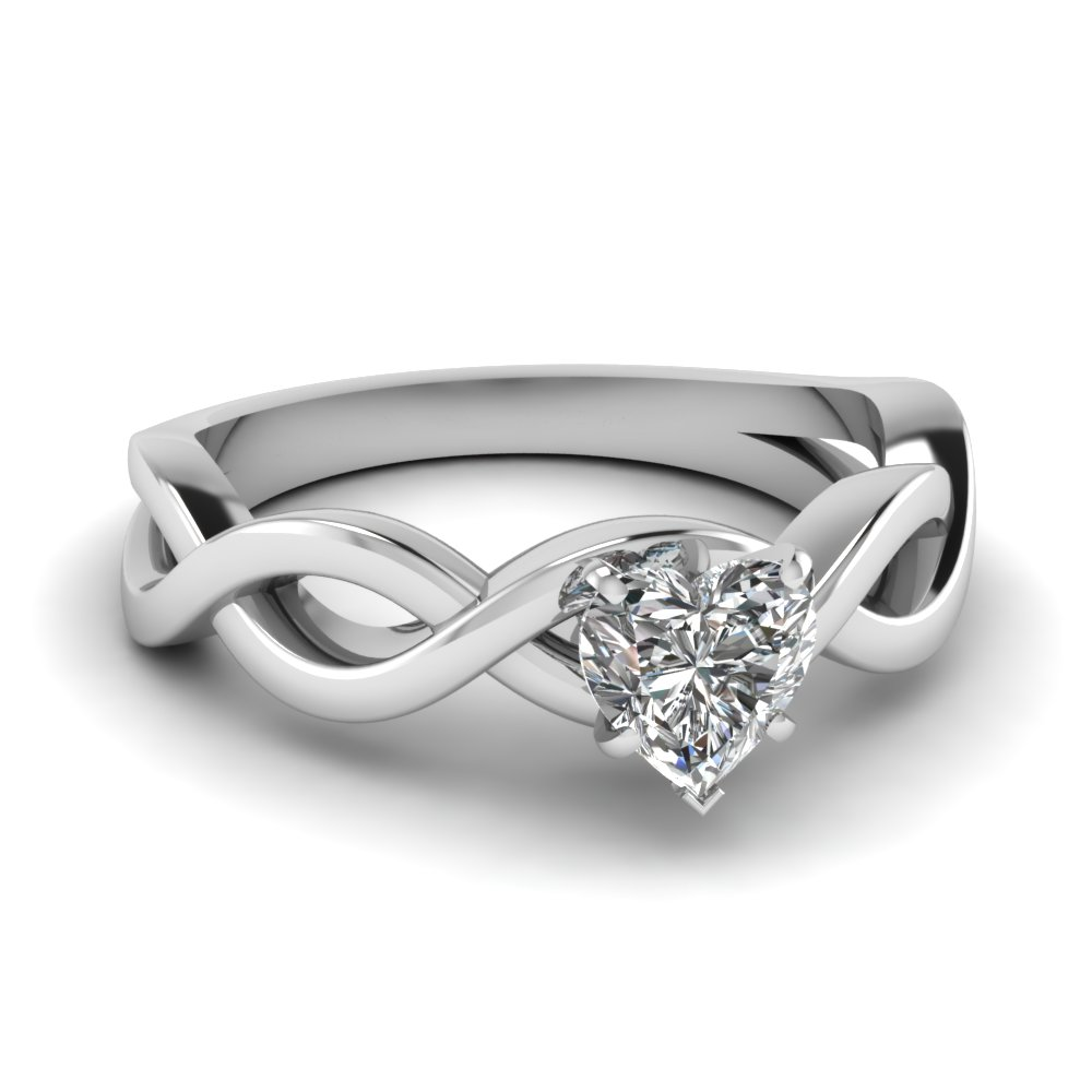 Heart Diamond Solitaire Engagement Ring