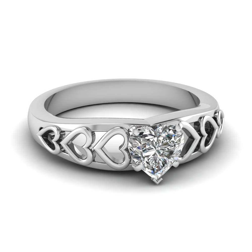 Filigree Diamond Rings