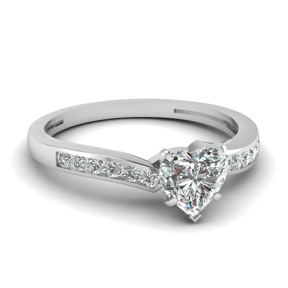 Affordable 0.50 Ct. Heart Diamond Rings