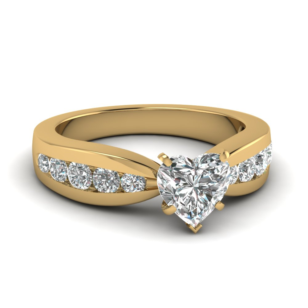 Tapered Channel Set Engagement Ring