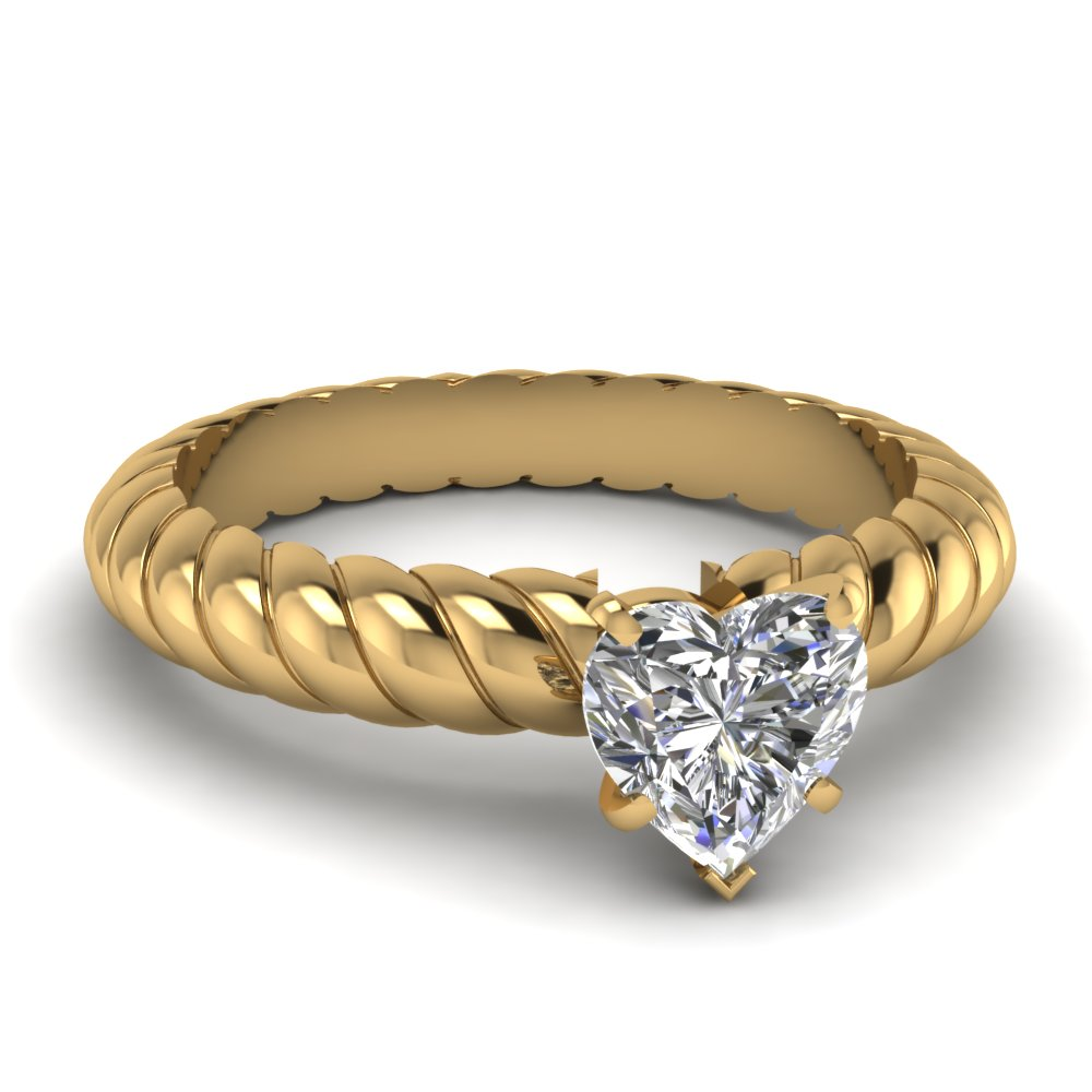 Coiled Solitaire Engagement Ring