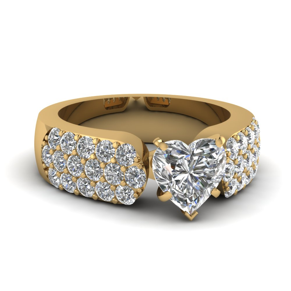 Wide Cluster Diamond Ring