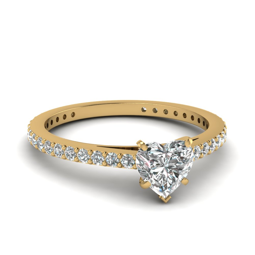 Heart Shaped Diamond Petite Ring