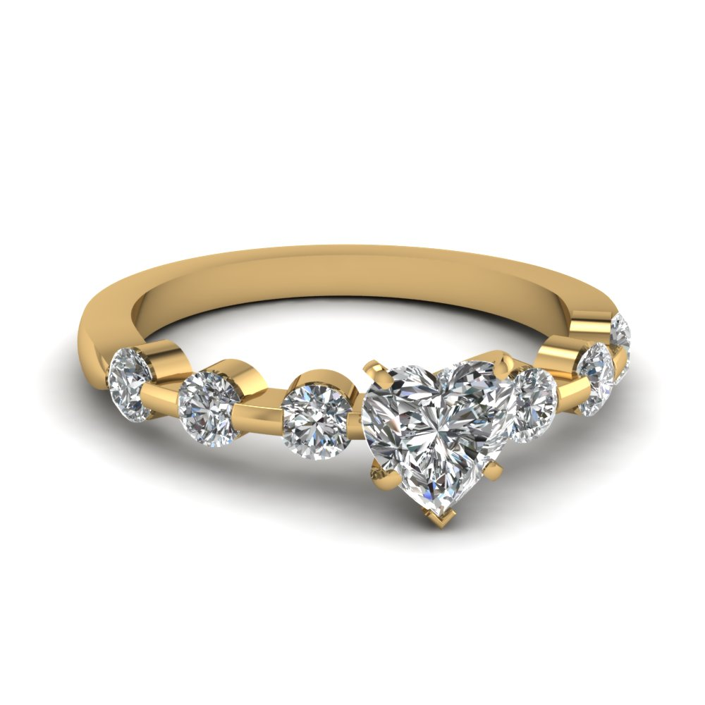 Heart Shape Petite Diamond Engagement Ring