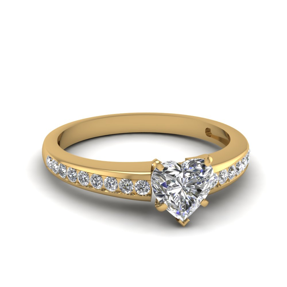 0.50 Ct. Heart Cut Diamond Ring For Women