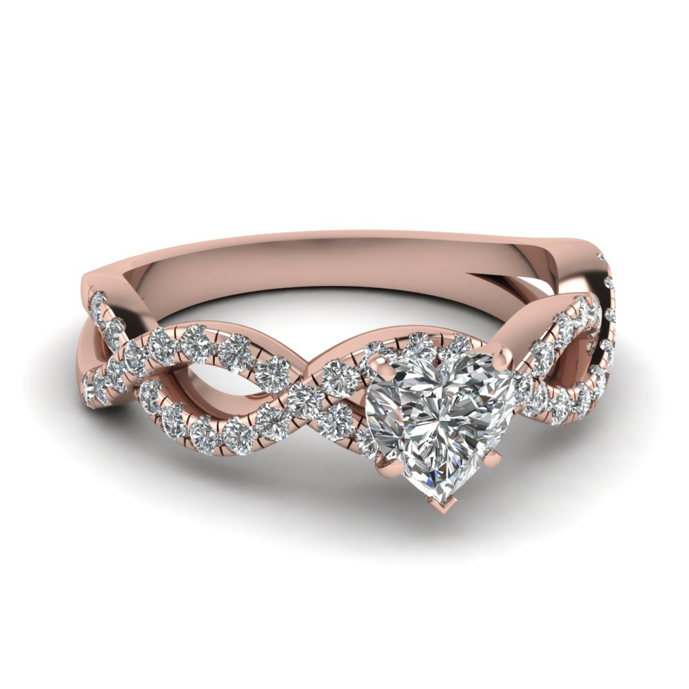 Heart Shaped Infinity Engagement Ring