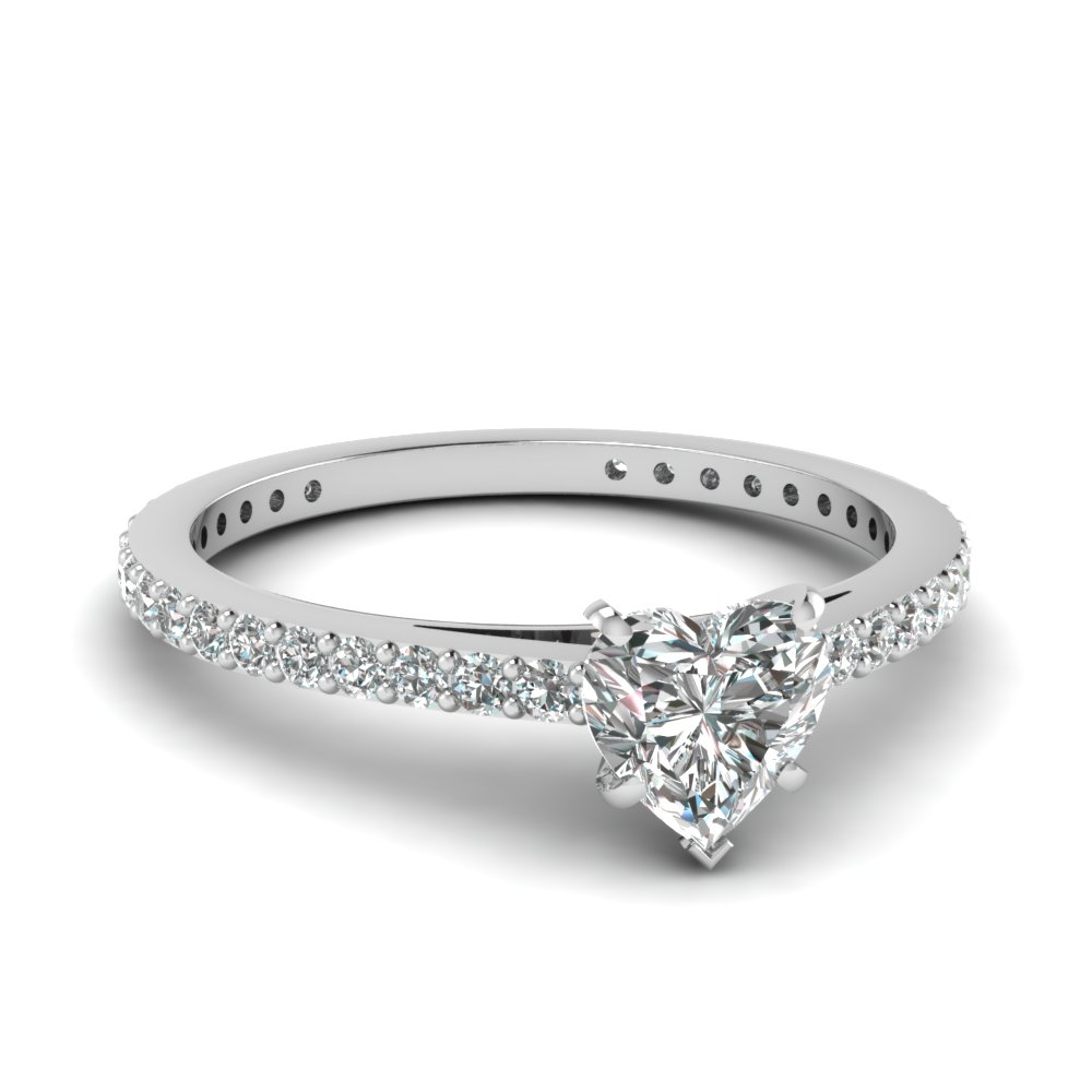 Heart Shaped Petite Engagement Ring