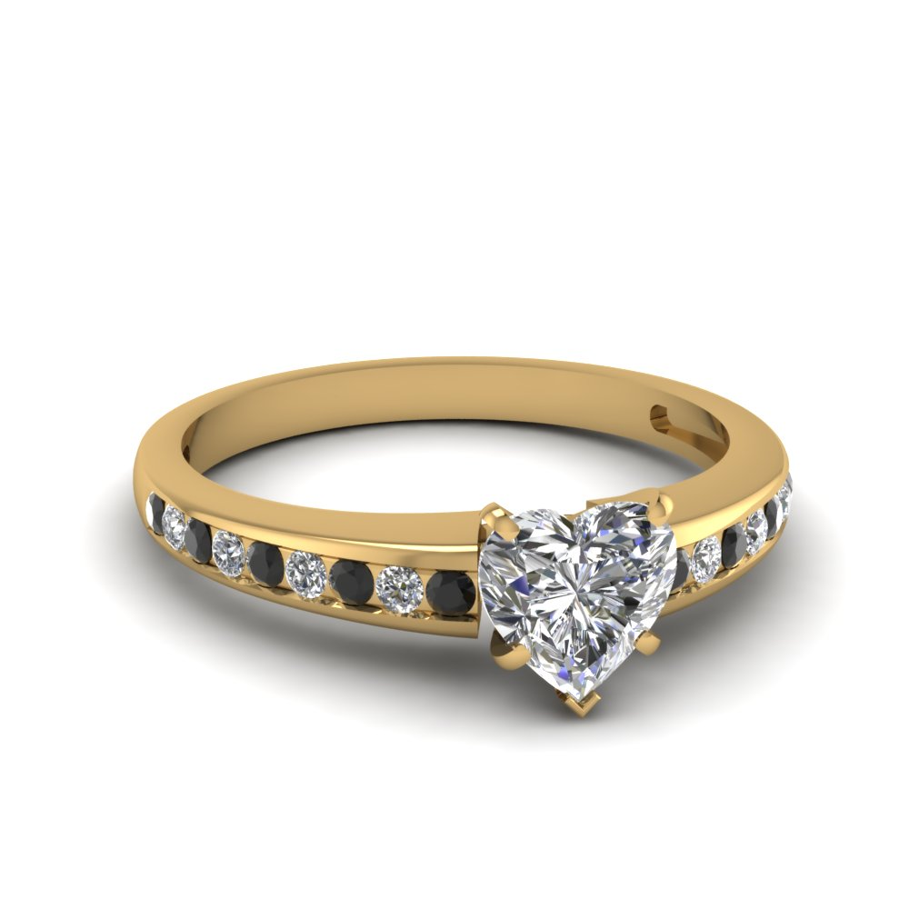 Heart Shaped Diamond Side Stone Rings