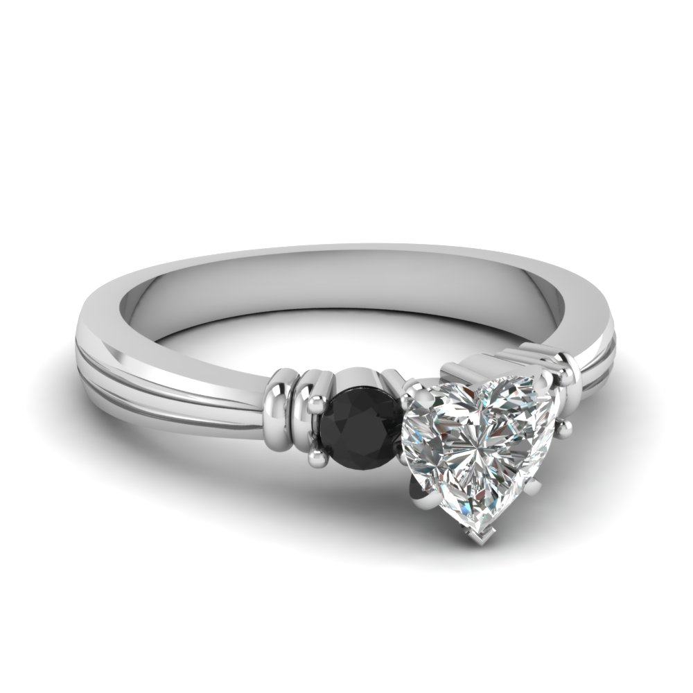 Beautiful Heart Shaped Twin Bar Ring