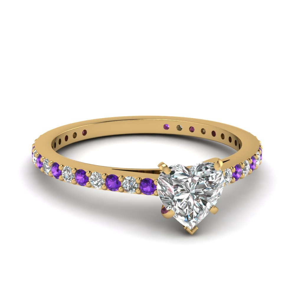 Artistic Purple Engagement Rings At Reasonable Price In Fascinating