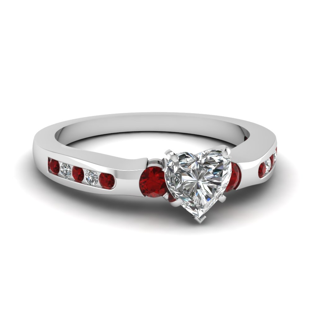 Gegenuine Ruby Engagement Ring
