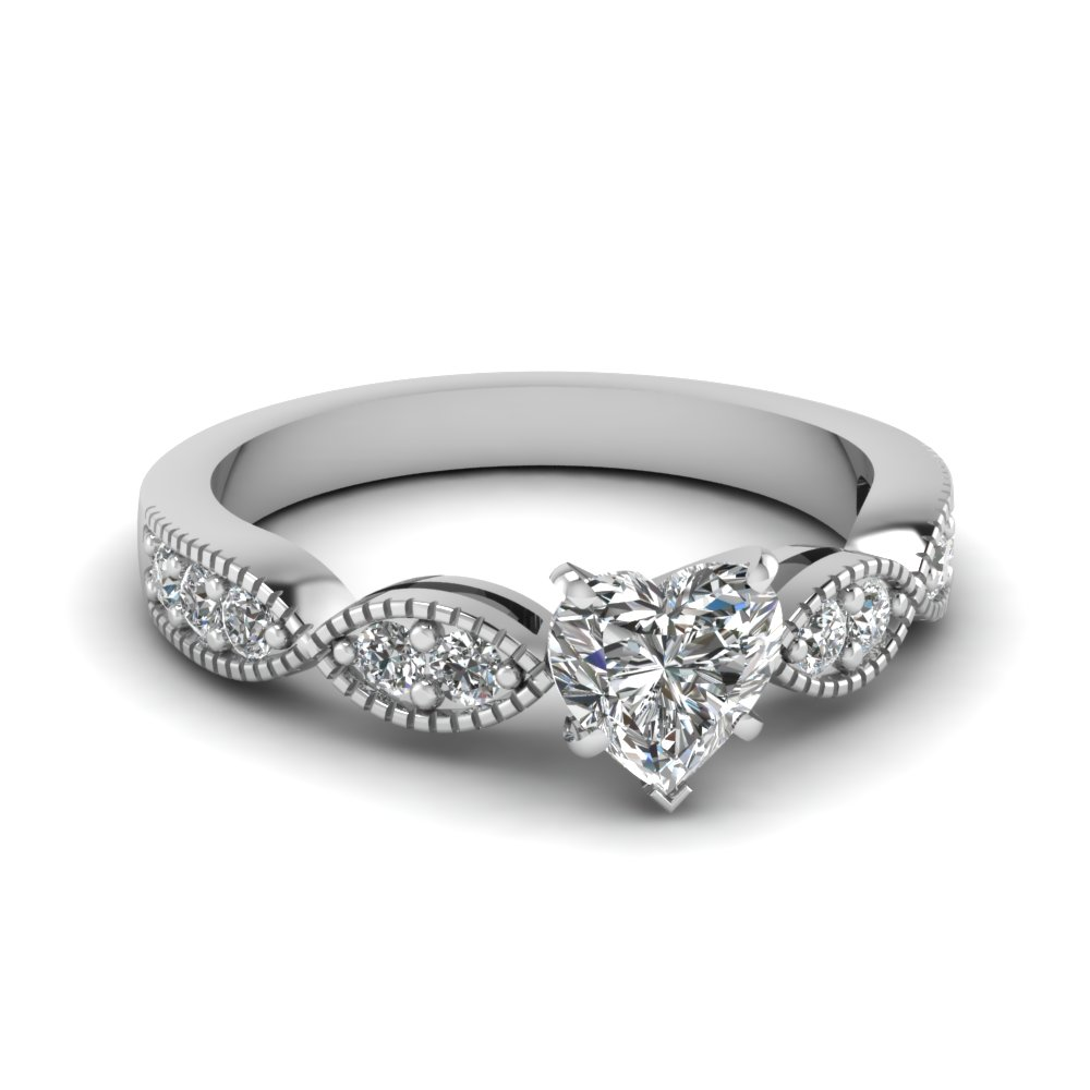 heart shaped art deco milgrain diamond engagement ring in FDENS3053HTR NL WG.jpg