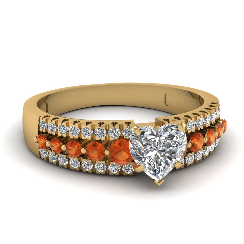Celebrity Inspired Orange Sapphire Ring