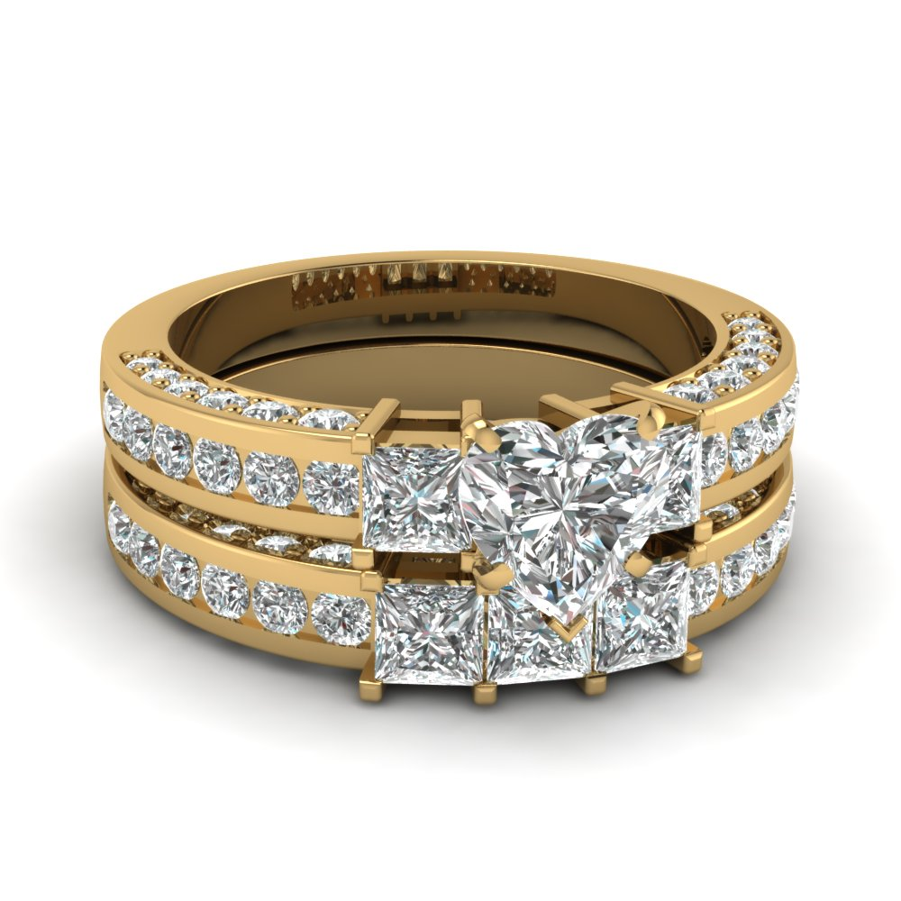 Trio Side Diamond Wedding Set