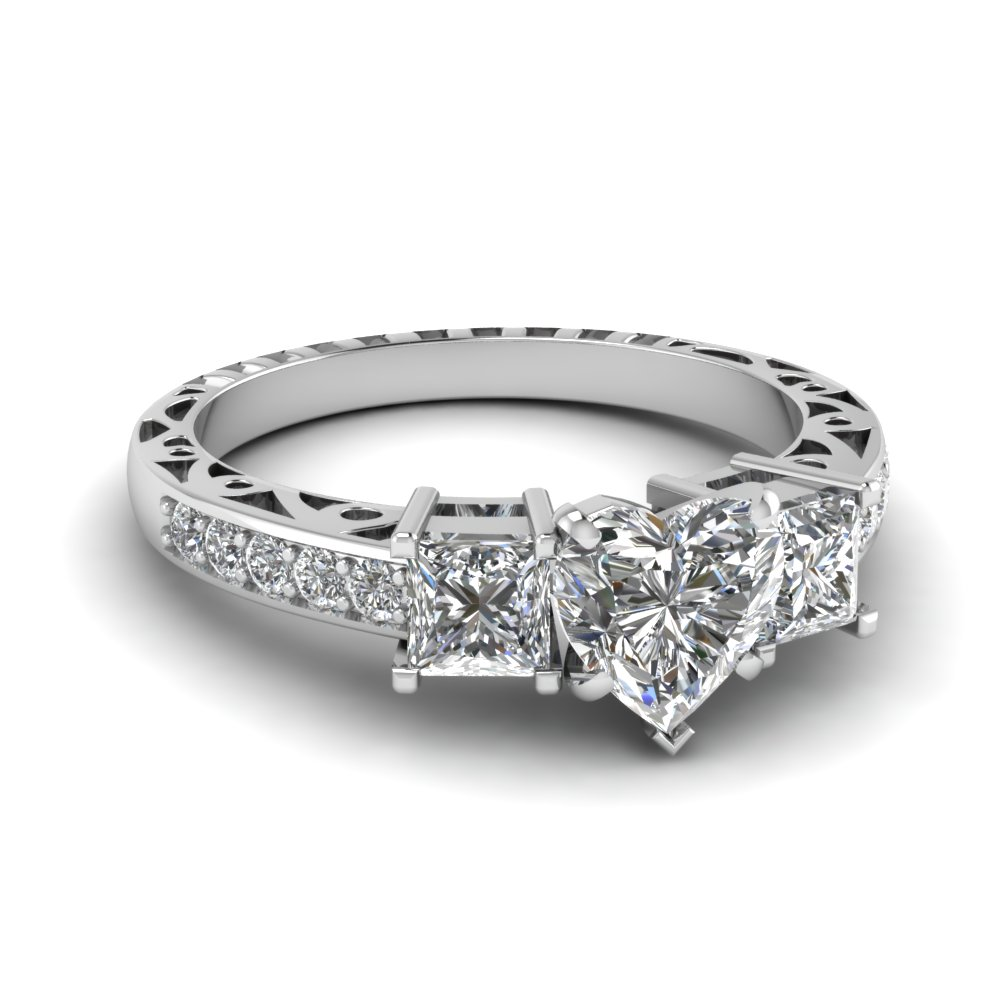 find extensive selection of 14k white gold vintage engagement