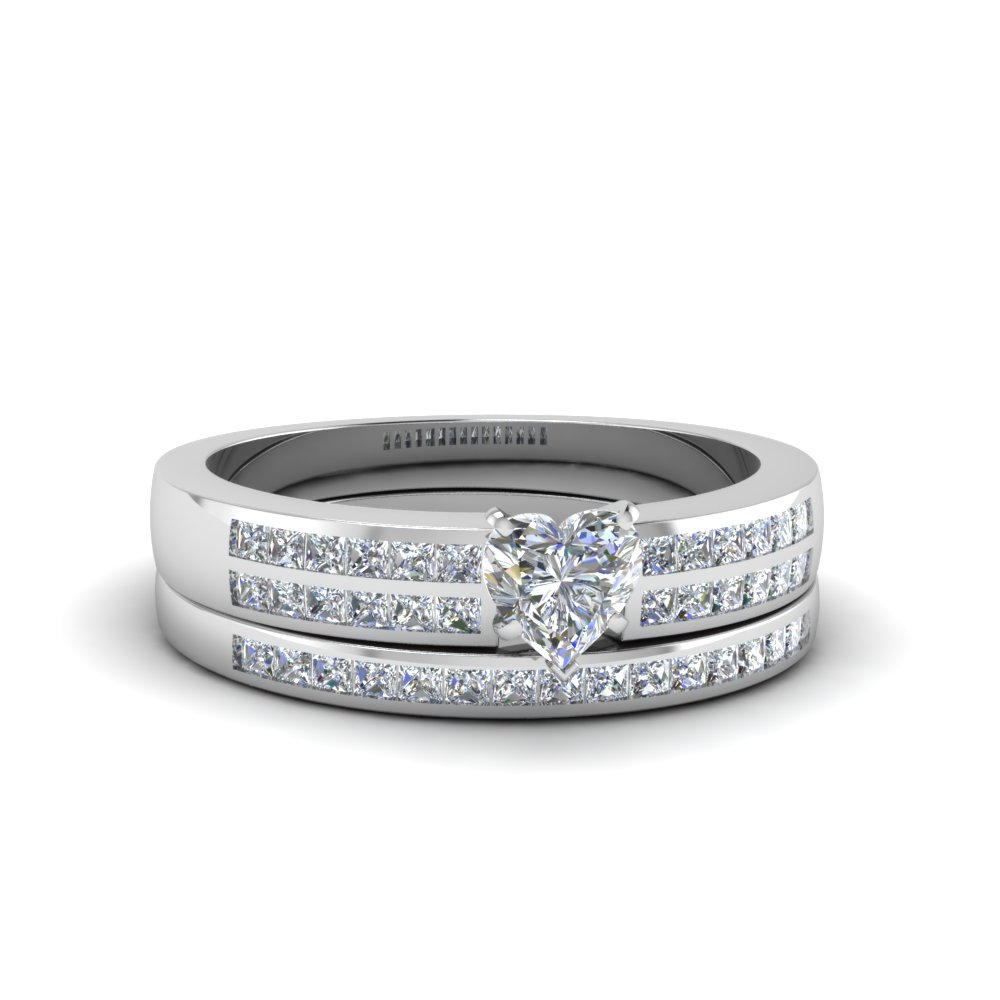 heart shaped double row channel diamond wide bridal set in FDENS3122HT NL WG.jpg