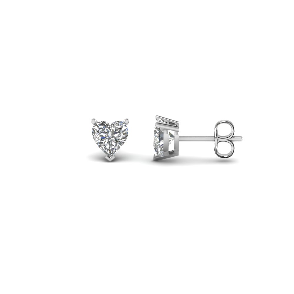 Half Ct. Heart Stud Earring