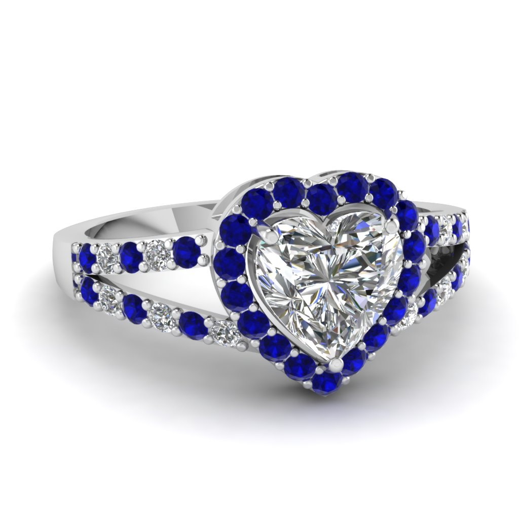Heart Halo Engagement Ring